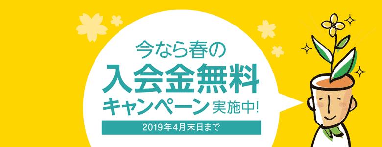 入会金無料-2019年