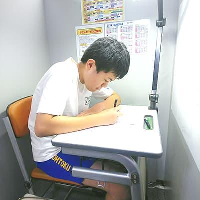 夏期講習参加の中学三年生